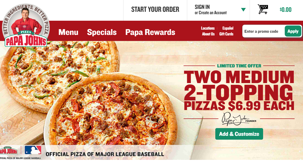 Free pizza coupons pizza hut specials dominos pizza papa john s pizza - Papa John S Is A Nation Wide Chain That S Famous For Their Extras That Come Along With Their Pizzas For Example Many Pizzas Come With A Container Of